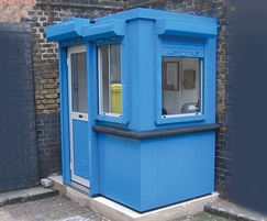 Boxer plastic coated steel modular building in blue