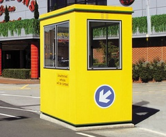 Boxer plastic coated steel modular building in yellow