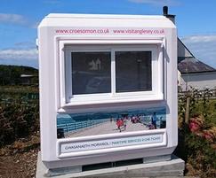 Genesis™ double sliding window kiosk