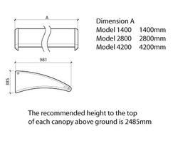 Carleton™ canopy dimensions