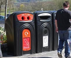 Nexus 360 Recycling Bins on Location