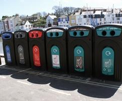Nexus™ 360 recycling bins