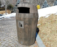 Sherwood litter bin dark oak wood effect