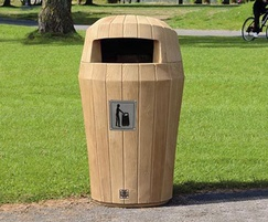 Sherwood litter bin light oak wood effect
