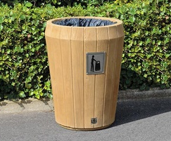 Sherwood open top litter bin