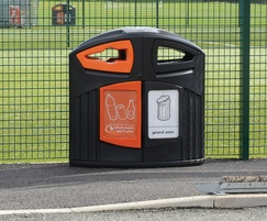 Nexus® 200 outdoor recycling and litter bin