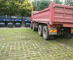 Grasscrete for HGV use, Dulwich Recycling Centre