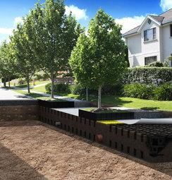 Stratacell urban tree root volume modules