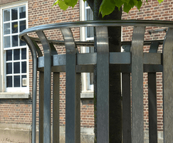 One of GreenBlue Urban's range of metal tree guards