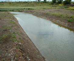Watercourse before conservation works