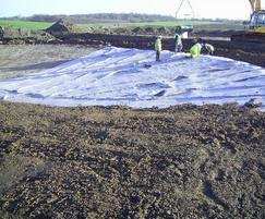 Watercourse lining under construction