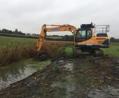 Ditching works at Shotley Gate Marshes
