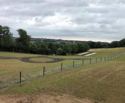 Completed cemetery extension works, fenced and seeded