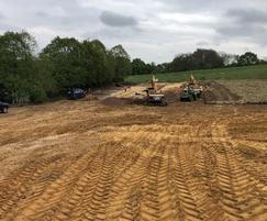 Grading the land involved moving over 5000m³ of soils
