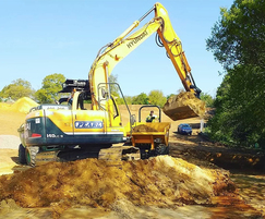 Over 5000m³ of soils were moved