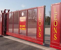Automatic cantilever gate -coach depot