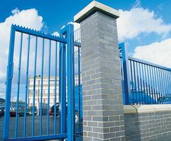 Blue automatic cantilever sliding entrance gate