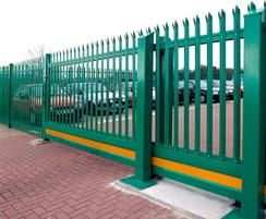 Cantilever palisade sliding gate - Singleton Hospital