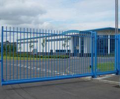Pro-glide blue cantilevered sliding gate