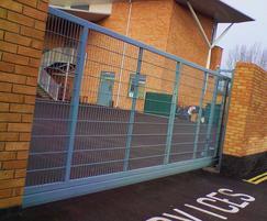 Mesh cantilever automatic sliding gate