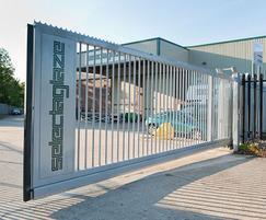Polyester coated cantilever sliding gate
