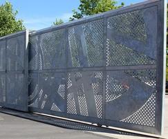 bespoke telescopic tracked sliding gates