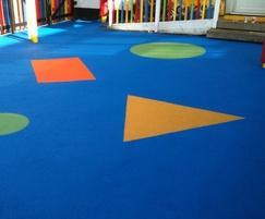 Wet pour rubber soft play area