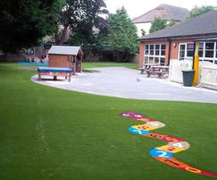 Artificial grass play flooring