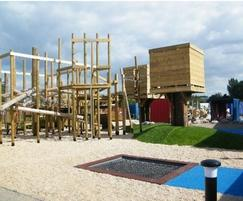 IGC Adventure Playground with tower, net and trampoline