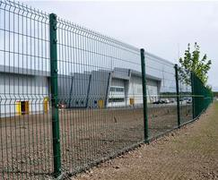 Triton is a modern welded mesh fencing system