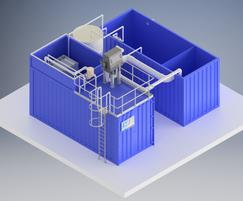 Prefabricated containerised biological treatment system
