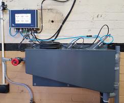TriOS sensor installation within PVC sample tank