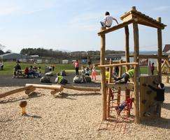 Play equipment in natural materials - Cuthill Park