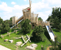 Adventure playground - bespoke timber multi-play unit