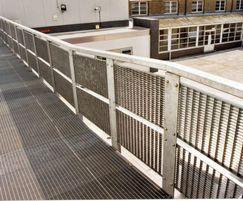 Steel balustrade infill, Shoeburyness High School