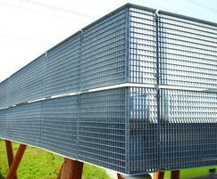 Louvre steel fencing
