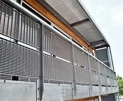 Screening/fencing, Shoeburyness High School, Essex