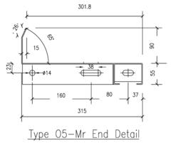 Type O5-M R stair treads