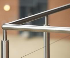 B20 stainless steel balustrade with wire infills