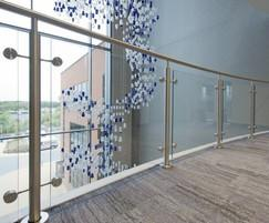B20 balustrading with glass infills, Felixstowe port
