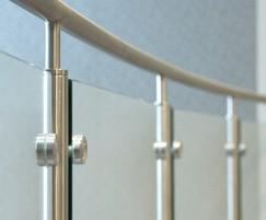 B20 balustrading with glass infills