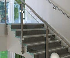 Glass balustrades for stairs