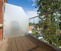 Balcony stainless steel and glass balustrade