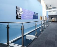 Glass and stainless steel balustrading at academy
