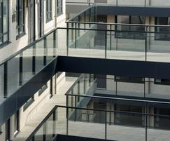 Balustrading with glass infill panels