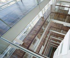 Balustrade with glass creates and airy feel