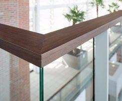 Wood-effect balustrade