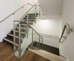 42mm stainless steel wall mounted handrail