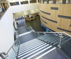 B20 balustrading with glass infill, Bedford Academy