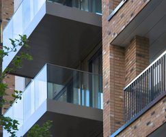 Glass balustrading for residential development